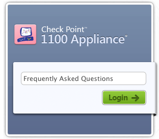 Check Point 1100 Appliance FAQ Logo
