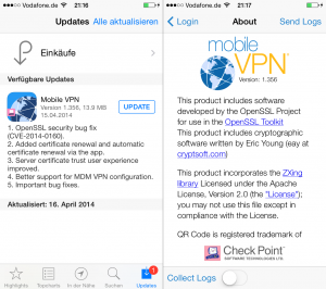 Check Point Mobile VPN 1.365